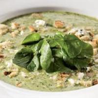 Крем-суп с кресс-салатом