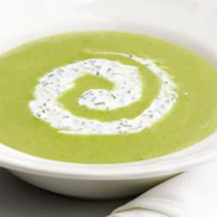 Свежий суп из спаржи