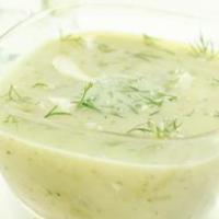 Холодный огуречно-укропный суп