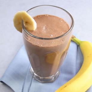 Шоколадно-банановый соевый смузи