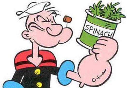 Моряк Папай и шпинат