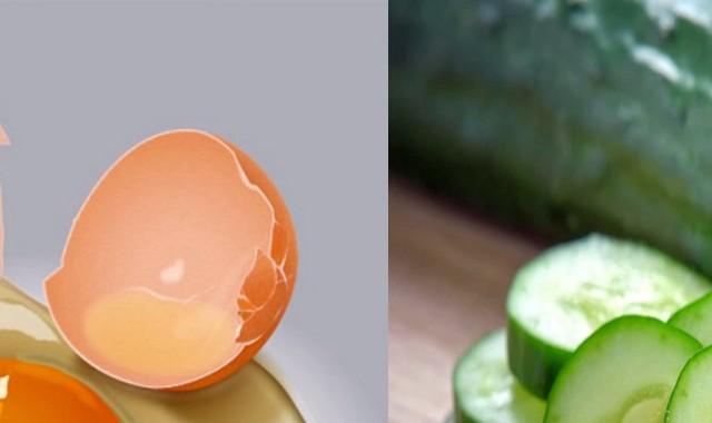 Огуречная маска с яйцом