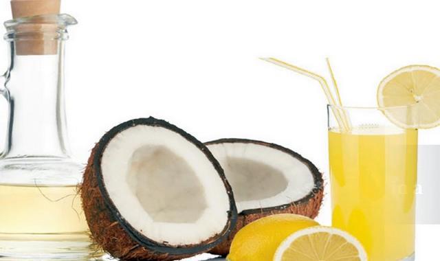 Сок лимона и кокосовое масло
