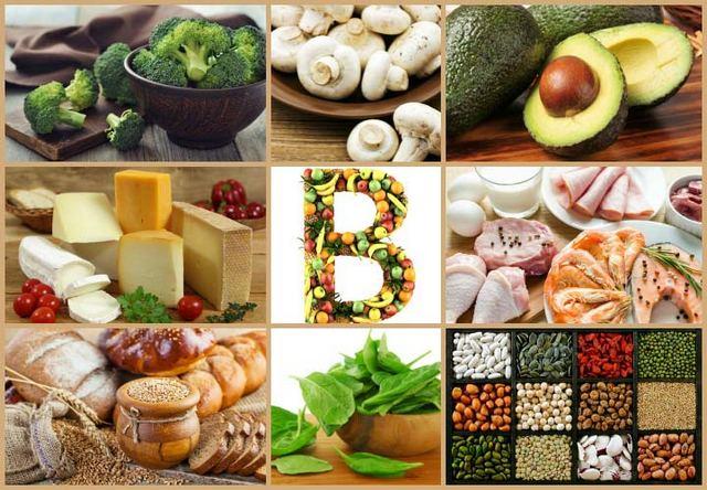 Продукты содержащие витамины группы Б