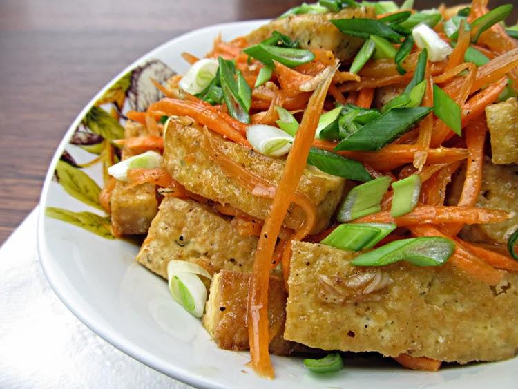 Салат из тофу по-корейски