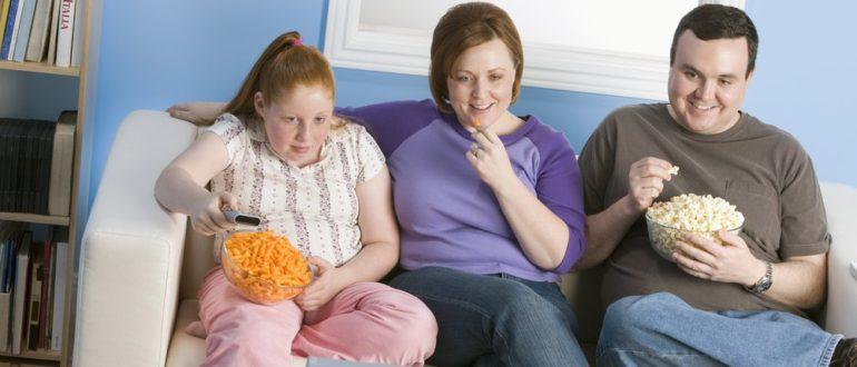 Питание масса тела и привычки в семье
