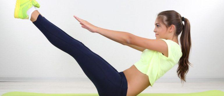 Эффективный комплекс упражнений для живота и ног