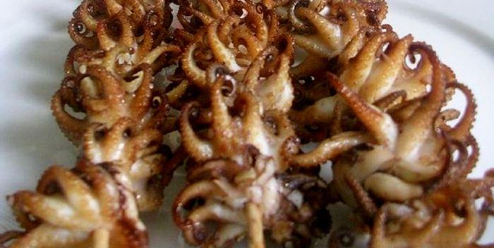 Шашлык из мяса осьминога