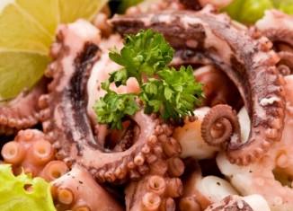 Приготовленное блюдо из осьминога
